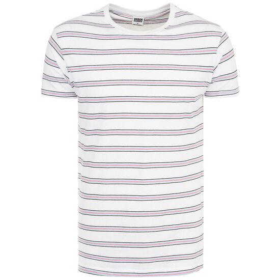 Multicolor Stripe T-Shirt Herren, weiß / rot, zoom bei OUTFITTER Online