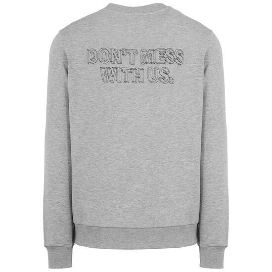 DMWU Typo Crewneck Sweatshirt Herren, grau / schwarz, zoom bei OUTFITTER Online