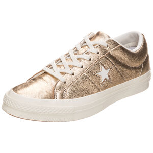 Cons One Star Metallic Leather OX Sneaker, Gold, zoom bei OUTFITTER Online