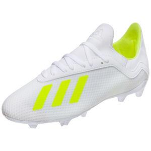 X 18.3 FG Fußballschuh Kinder, weiß / neongelb, zoom bei OUTFITTER Online