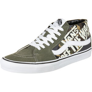 Sk8-Mid Sneaker Herren, dunkelgrün / weiß, zoom bei OUTFITTER Online