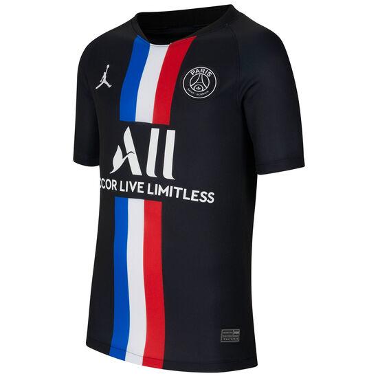 Paris St.-Germain Jordan Trikot 4th Stadium 2019/2020 Kinder, schwarz / weiß, zoom bei OUTFITTER Online