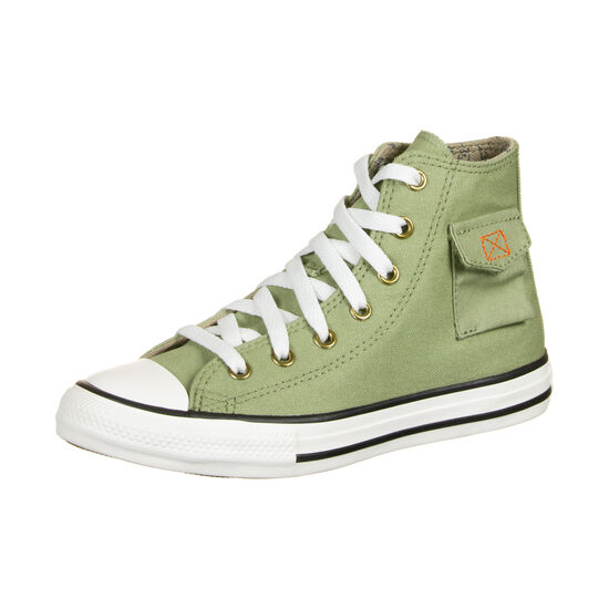 Chuck Taylor All Star Pocket High Sneaker Kinder, oliv / weiß, zoom bei OUTFITTER Online