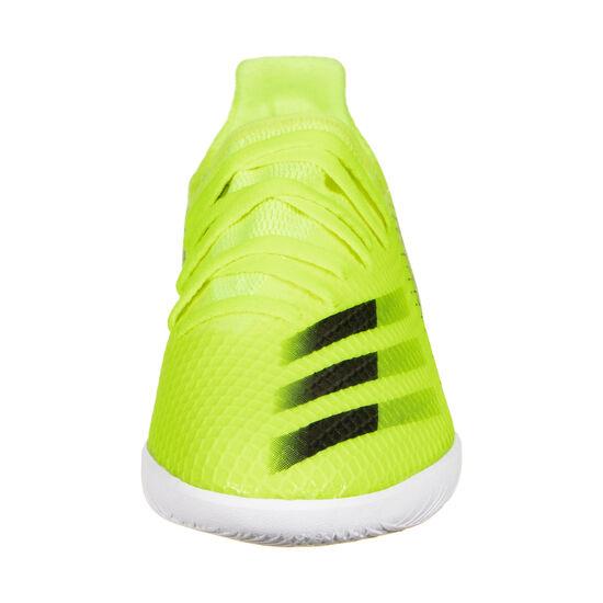 X Ghosted.3 Indoor Fußballschuh Kinder, neongelb / blau, zoom bei OUTFITTER Online
