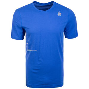 CrossFit Mesh Move Trainingsshirt Herren, blau, zoom bei OUTFITTER Online