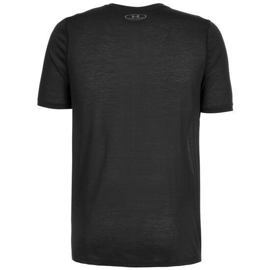 HeatGear Threadborne Fitted Trainingsshirt Herren, schwarz, zoom bei OUTFITTER Online