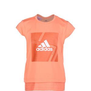 Branded Trainingsshirt Kinder, orange / weiß, zoom bei OUTFITTER Online