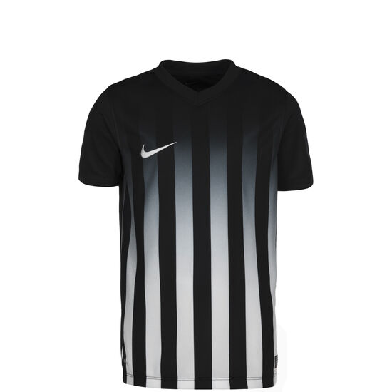 Striped Division II Fußballtrikot Kinder, Schwarz, zoom bei OUTFITTER Online