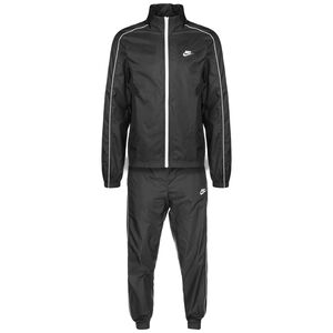Sportswear CE Tracksuit Woven Basic Trainingsanzug Herren, schwarz / weiß, zoom bei OUTFITTER Online