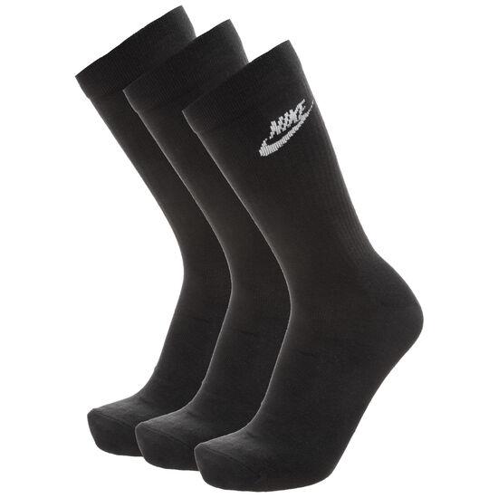 Everyday Essential Crew 3er Pack Socken, schwarz, zoom bei OUTFITTER Online