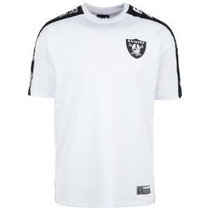 NFL Oakland Raiders Oversized Shoulder Print T-Shirt Herren, weiß / schwarz, zoom bei OUTFITTER Online