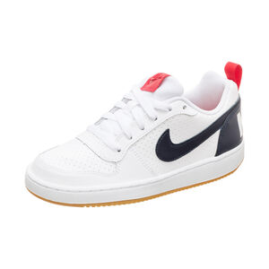 Court Borough Low Sneaker Kinder, weiß / rot, zoom bei OUTFITTER Online