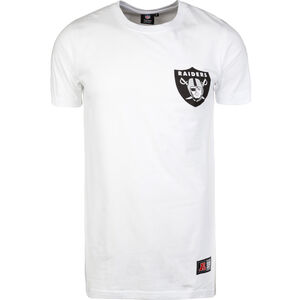 NFL Oakland Raiders Longline T-Shirt Herren, Weiß, zoom bei OUTFITTER Online