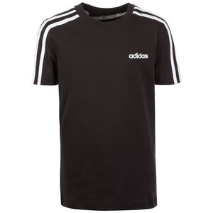 Essential 3 Stripes Trainingsshirt Kinder, schwarz / weiß, zoom bei OUTFITTER Online