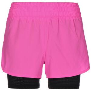 Run Favourite 2-in-1 Laufshort Damen, pink / schwarz, zoom bei OUTFITTER Online