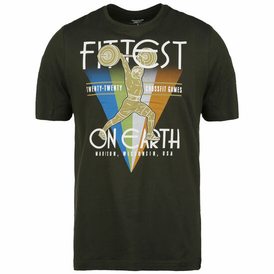 CrossFit Fittest On Earth Trainingsshirt Herren, dunkelgrün / bunt, zoom bei OUTFITTER Online