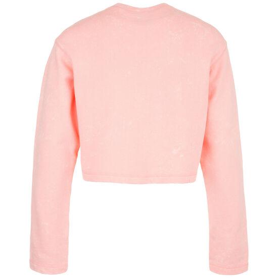 Cropped Crew Sweatshirt Damen, rosa / weiß, zoom bei OUTFITTER Online