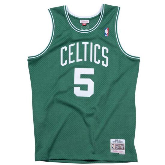 Classic Swingman #5 Kevin Garnett Basketballtrikot Herren, grün / weiß, zoom bei OUTFITTER Online