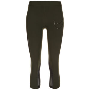 Pro Hypercool Capri Trainingstight Damen, dunkelgrün / schwarz, zoom bei OUTFITTER Online