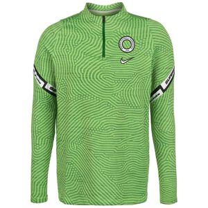 Nigeria Dry Strike Drill Sweatshirt Saison Herren, grün / weiß, zoom bei OUTFITTER Online