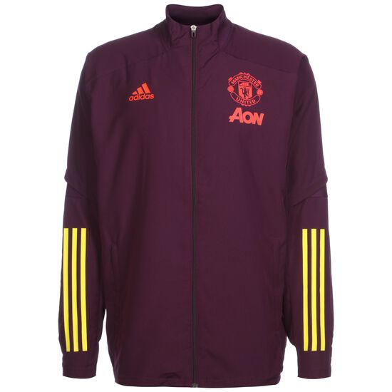 Manchester United Präsentationsjacke Herren, aubergine / gelb, zoom bei OUTFITTER Online