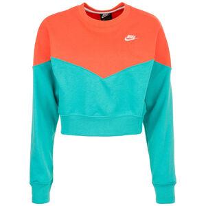 Heritage Crew Fleece Sweatshirt Damen, grün / orange, zoom bei OUTFITTER Online