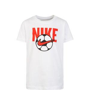 Soccer Ball T-Shirt Kinder, weiß / rot, zoom bei OUTFITTER Online