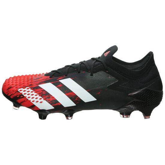 Predator 20.1 L FG Fußballschuh Herren, schwarz / rot, zoom bei OUTFITTER Online