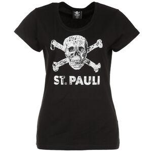 Totenkopf Stadtplan T-Shirt Damen, schwarz / weiß, zoom bei OUTFITTER Online