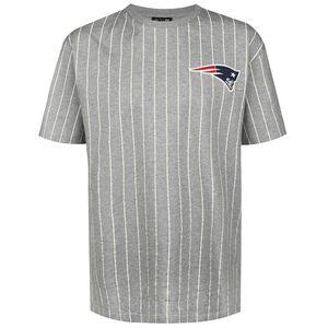 NFL New England Patriots Pinstripe Left Logo T-Shirt Herren, grau / weiß, zoom bei OUTFITTER Online