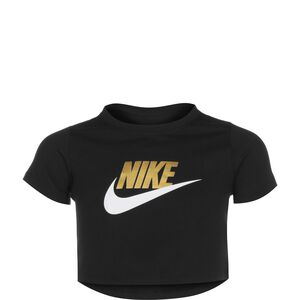 Crop Futura T-Shirt Kinder, schwarz / gold, zoom bei OUTFITTER Online