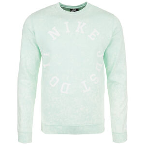Wash Crew Sweatshirt Herren, grün / weiß, zoom bei OUTFITTER Online