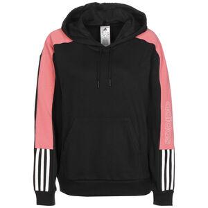 Colorblock Linear Kapuzenpullover Damen, schwarz / rosa, zoom bei OUTFITTER Online