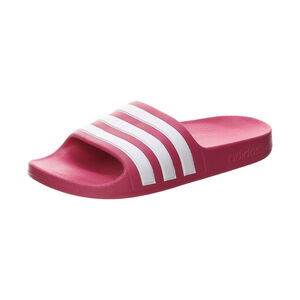 Aqua Adilette Badesandale Kinder, magenta / weiß, zoom bei OUTFITTER Online