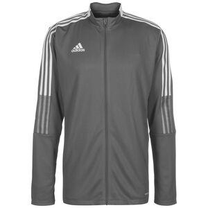 Tiro 21 Trainingsjacke Herren, grau / weiß, zoom bei OUTFITTER Online