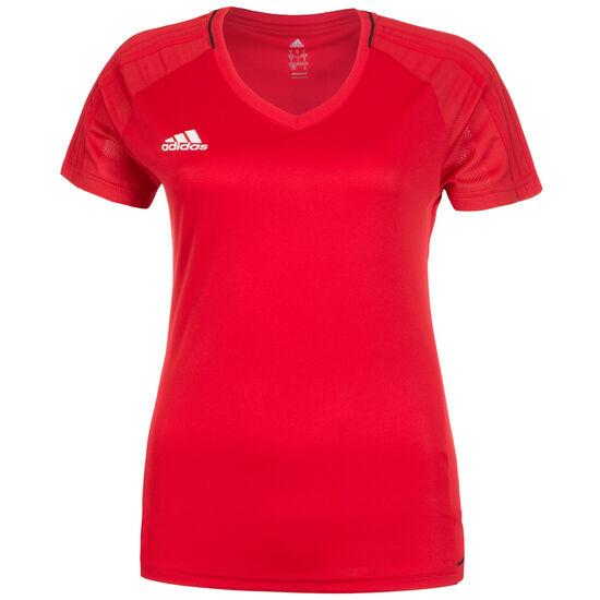 Tiro 17 Trainingsshirt Damen, rot / weiß, zoom bei OUTFITTER Online
