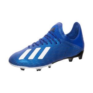 X 19.1 FG Fußballschuh Kinder, blau / weiß, zoom bei OUTFITTER Online