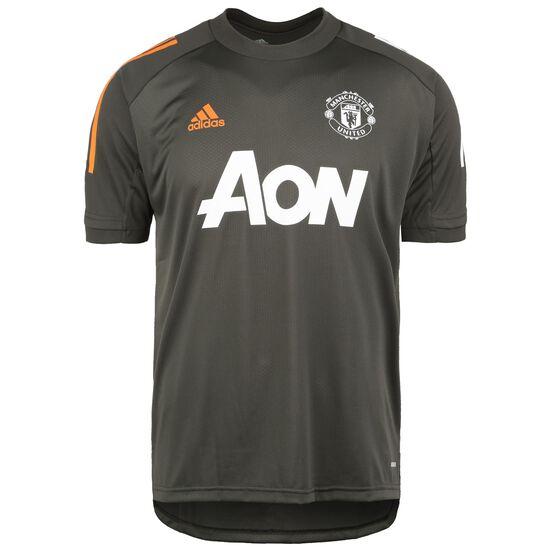 Manchester United Trainingsshirt Herren, dunkelbraun / weiß, zoom bei OUTFITTER Online