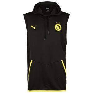 Borussia Dortmund BVB Warm-Up Sleeveless Kapuzenpullover Herren, schwarz / gelb, zoom bei OUTFITTER Online