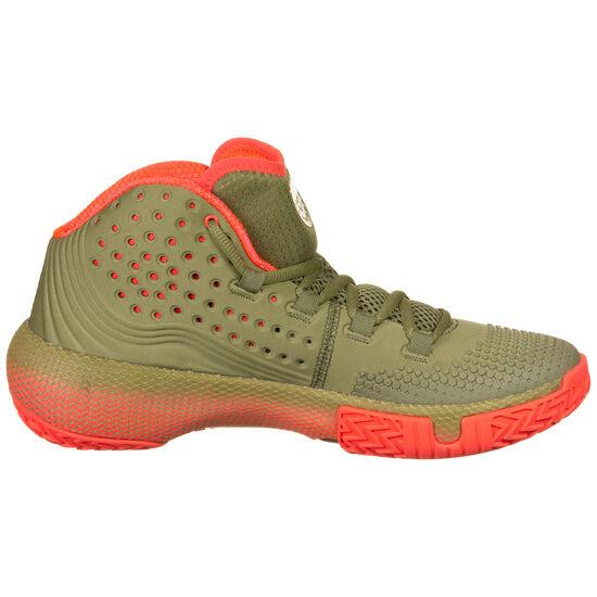 Hovr Havoc 2 Basketballschuhe Herren, oliv / neonrot, zoom bei OUTFITTER Online