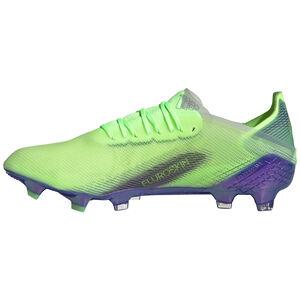 X Ghosted.1 FG Fußballschuh Herren, hellgrün / blau, zoom bei OUTFITTER Online