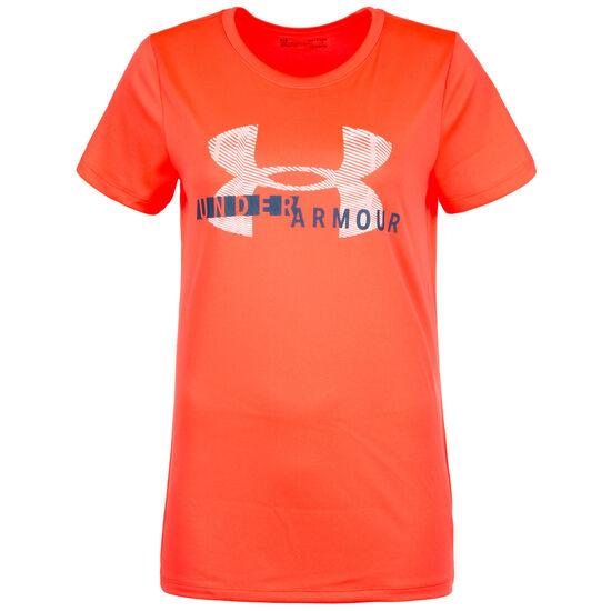 HeatGear Tech Graphic Trainingsshirt Damen, Orange, zoom bei OUTFITTER Online
