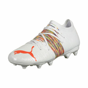 Future Z 2.1 FG/AG Fußballschuh Kinder, weiß / neonrot, zoom bei OUTFITTER Online