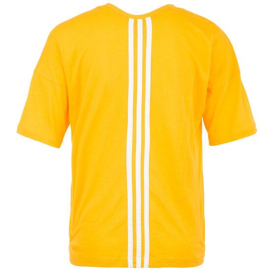 Must Haves 3-Streifen Trainingsshirt Damen, gelb / weiß, zoom bei OUTFITTER Online