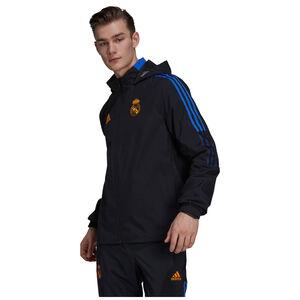 Real Madrid All Weather Jacke Herren, schwarz / blau, zoom bei OUTFITTER Online