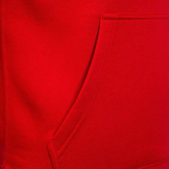 Club19 Fleece TM Kapuzenpullover Herren, rot / weiß, zoom bei OUTFITTER Online