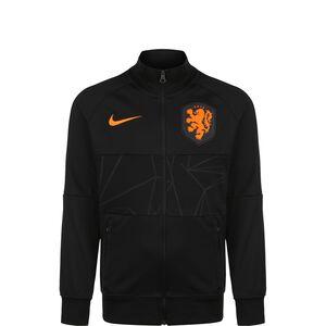 Niederlande I96 Anthem Jacke EM 2021 Kinder, schwarz / orange, zoom bei OUTFITTER Online