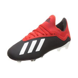 X 18.3 FG Fußballschuh Kinder, schwarz / rot, zoom bei OUTFITTER Online