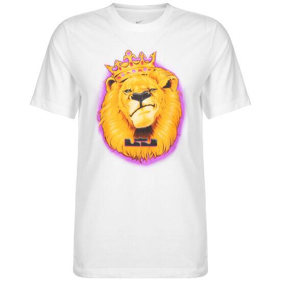 LeBron James Aribrush T-Shirt Herren, weiß / gelb, zoom bei OUTFITTER Online