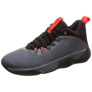 Jordan Super.Fly MVP Low Basketballschuh Herren, grau / schwarz, zoom bei OUTFITTER Online